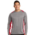Adult Heather Colorblock LS T