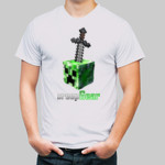 Creeper Shirt: 3D With Sword
